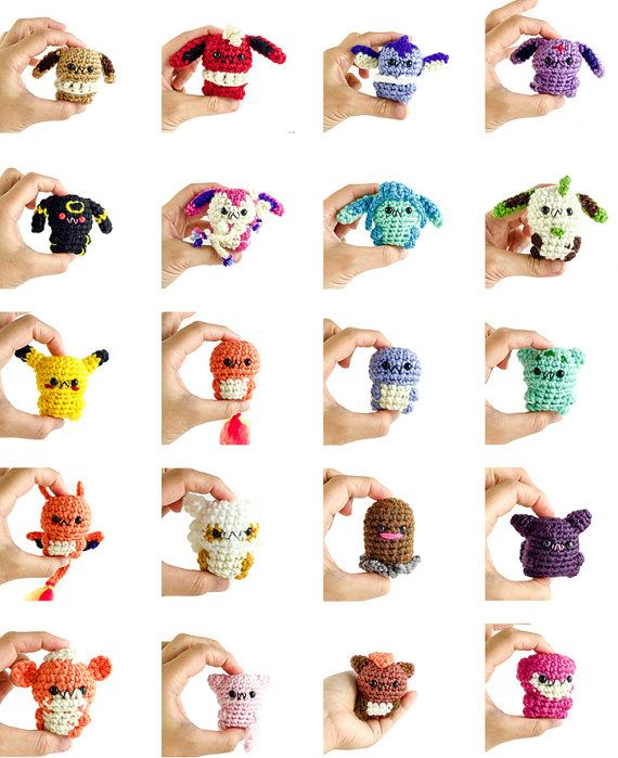 Pokemon Amigurumi Charms Plushie Keychain Doll Toy by mengy