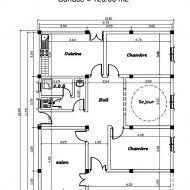 Plan maison type f4 en 2020 | Plan de maison gratuit, Plan petite maison, Plan de maison mitoyenne