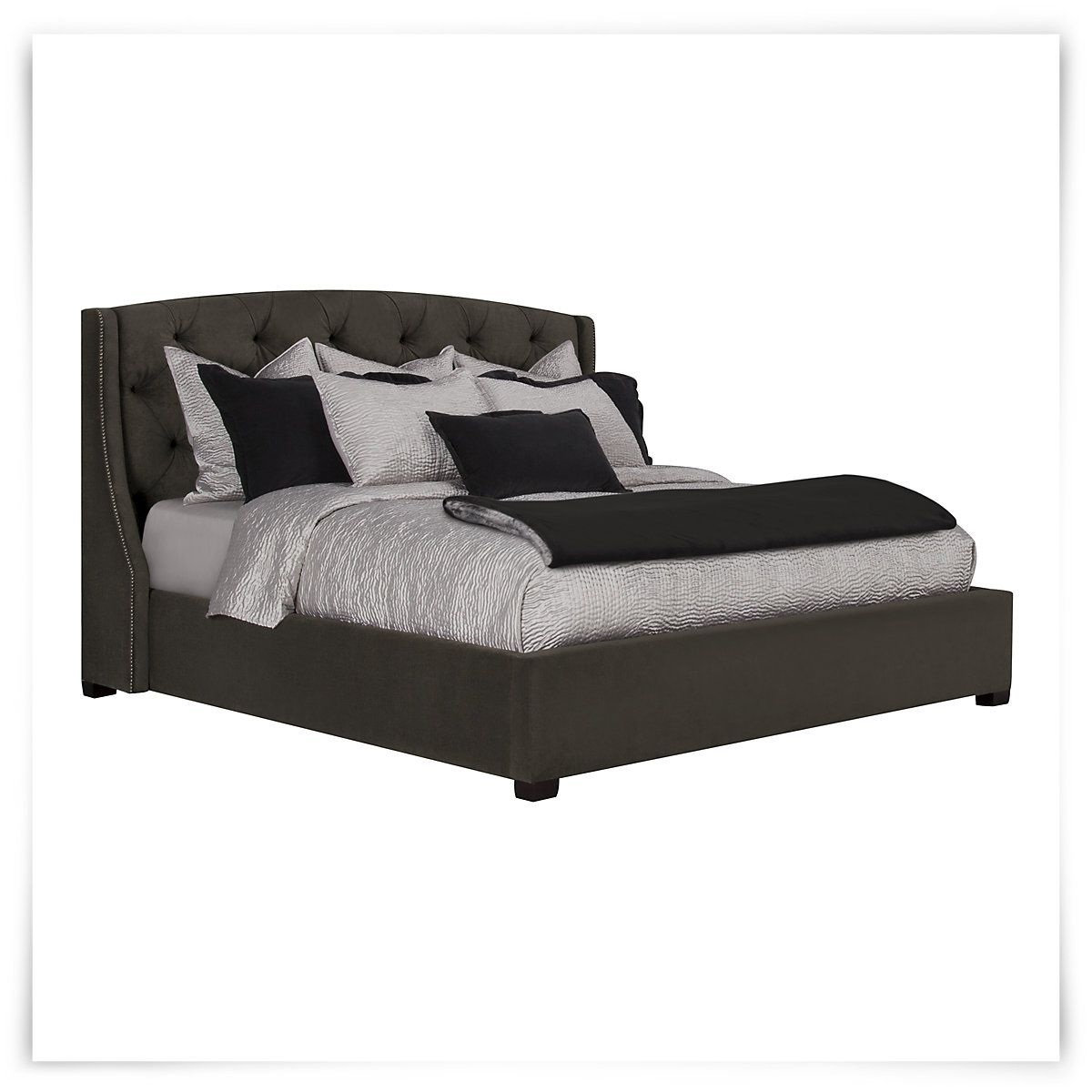jordan dk gray upholstered platform bed guest bedroom pinterest