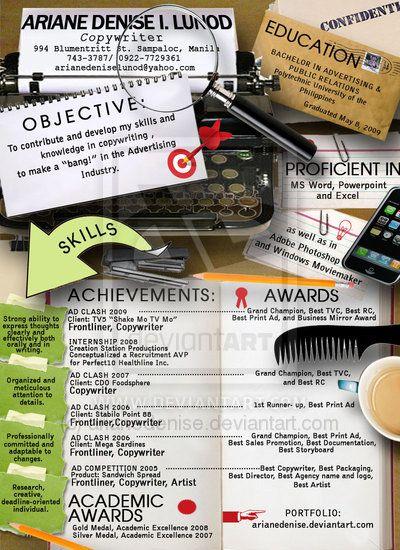 30 CV insolites pour vous inspirer ! Design CV  Resumes