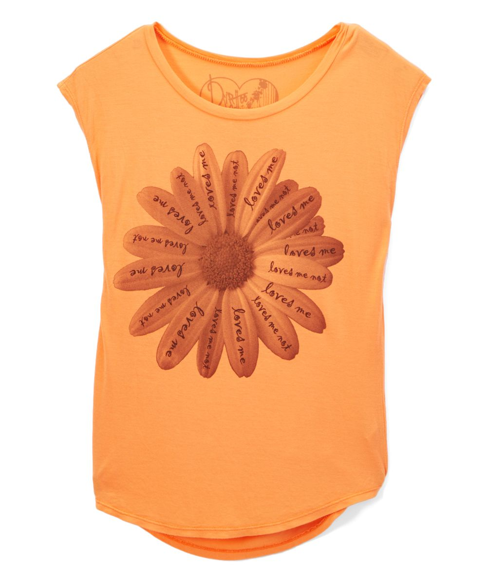 Coral Love Me Not Hi-Low Tee - Toddler & Girls