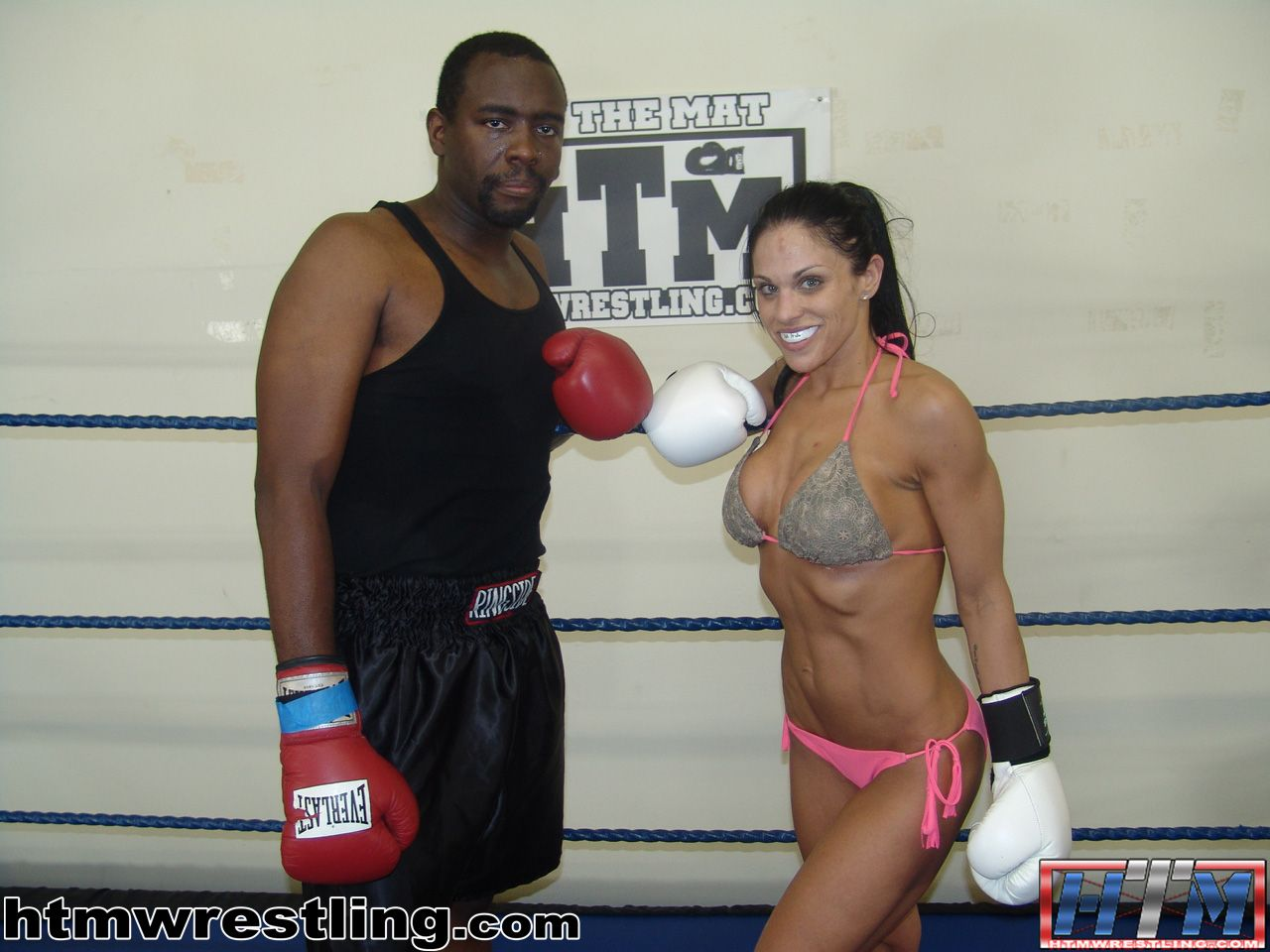 Domination female fighting, belly punching, submission wrestling