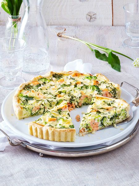 Lachs-Quiche in Bärlauch-Eiermilch #sandwichrecipes