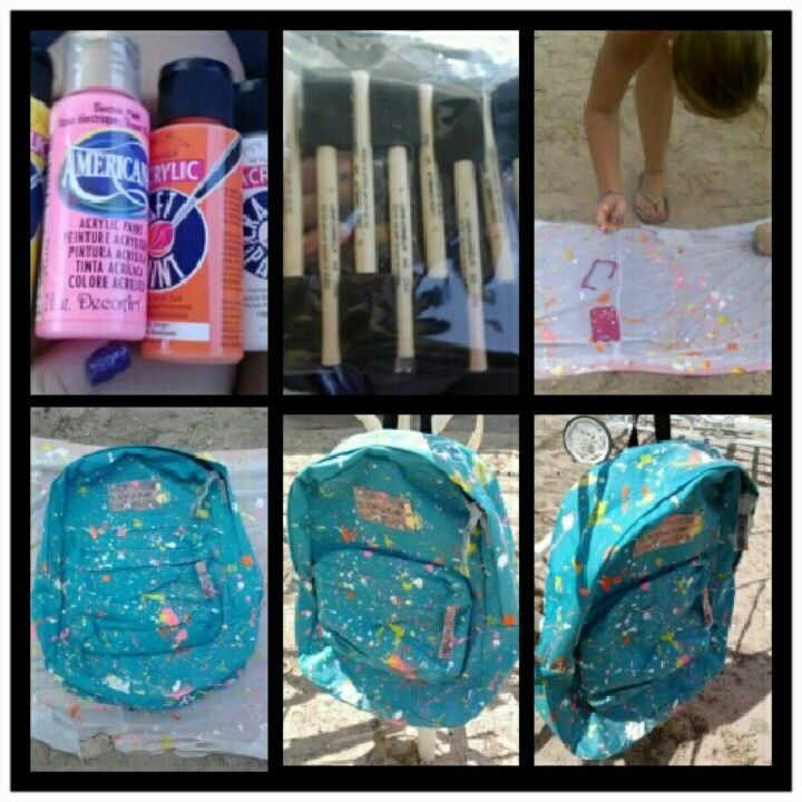 Paint Splatter Backpack Painting Backpack Fabric Painting Fun