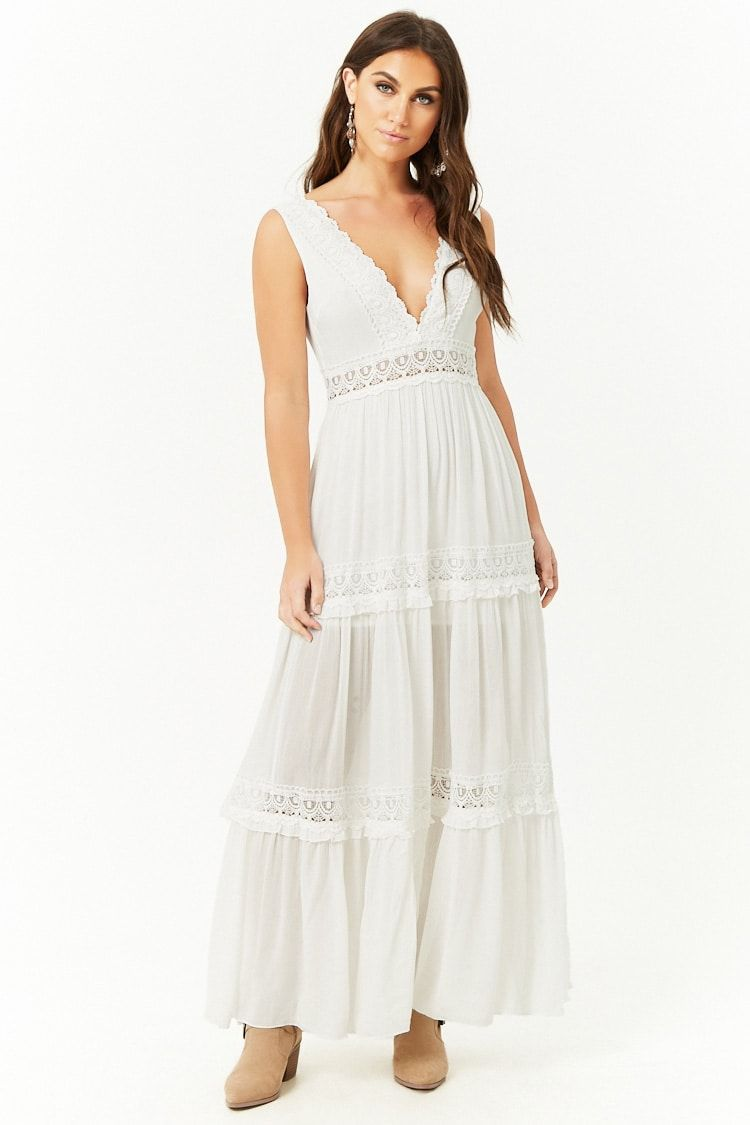 Crochet Trim Maxi Dress Forever 21 White Maxi Dresses Dresses Maxi Dress