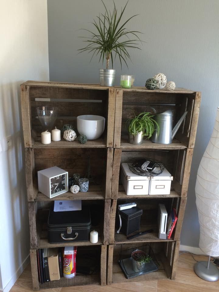 Pack luxe 12 9 caisses vin caisse tag re modulable id es home decor shelves - Meuble tv caisse bois ...