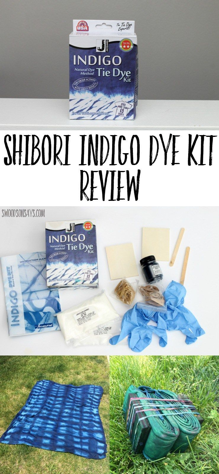 202e97212 Shibori Indigo Dye Kit Review - see what is inside this cheap kit, that dyes  up to 15 shirts! Shibori tie dye kits make it simple and easy to experiment  ...