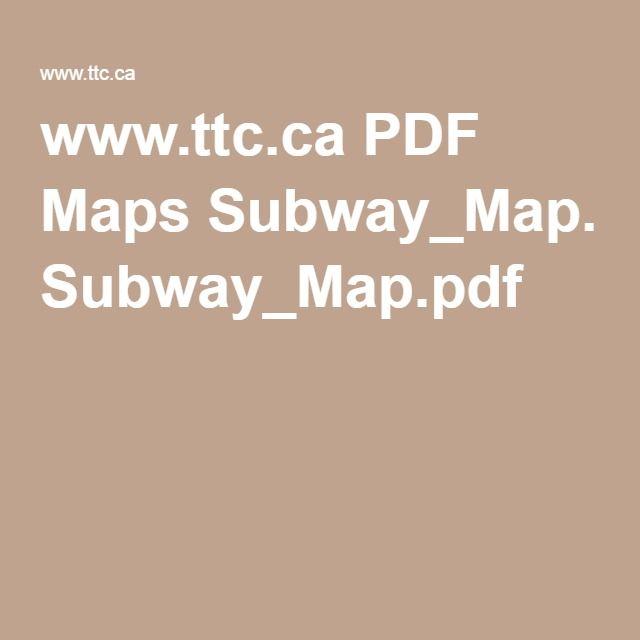 Toronto Subway Map Pdf.Www Ttc Ca Pdf Maps Subway Map Pdf Toronto Subway Map Logos Map
