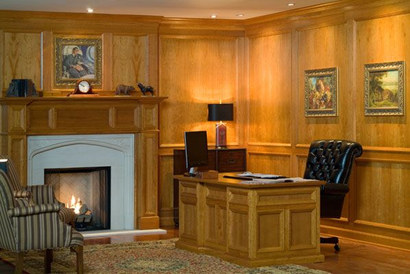 Contemporary Cherry Wood Wall Paneling System