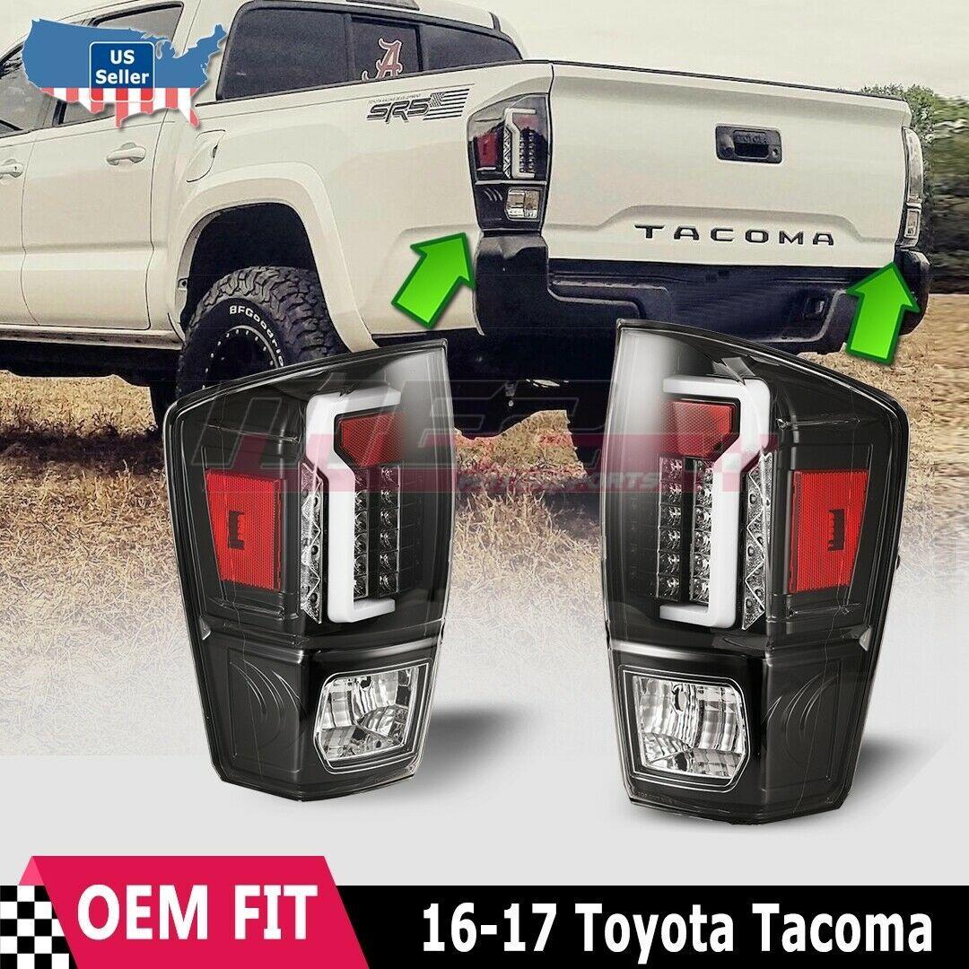 Winjet Oe Factory Fit For 2016 2019 Toyota Tacoma Led Brake Tail Lights Black Ebay Toyota Tacoma Toyota Tacoma