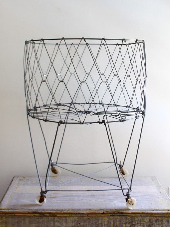 Vintage Wire Laundry Cart Vintage Laundry Laundry Cart Wire