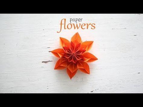 Diy paper flower youtube origami pinterest diy paper diy paper flower youtube origami pinterest diy paper origami and flower mightylinksfo