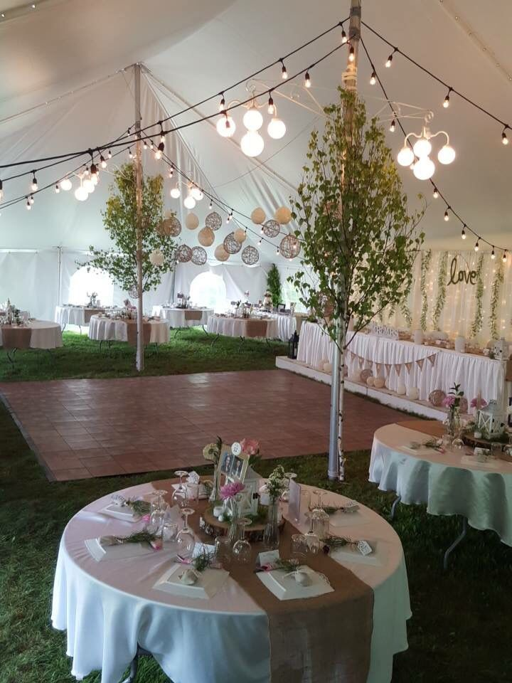 Garden romantic tent rustic country forest wedding doily twine balls