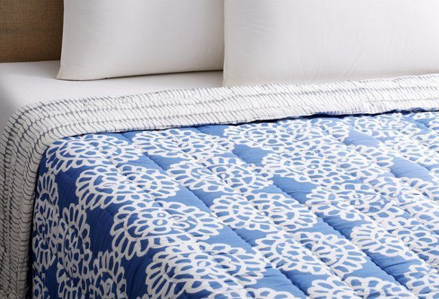 Lace Quilt, Periwinkle. One Kings Lane.