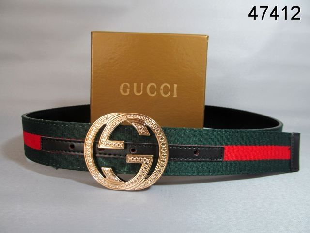 69eeb9875 Gucci Belt Gold Interlocking G Buckle green red black 12 | Gucci ...