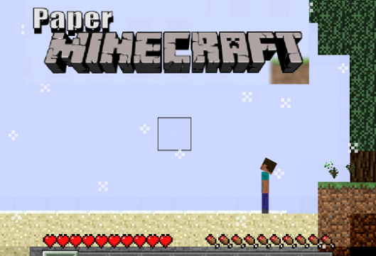 Paper Minecraft Unblocked Game Play Online Gtten Com Play Online