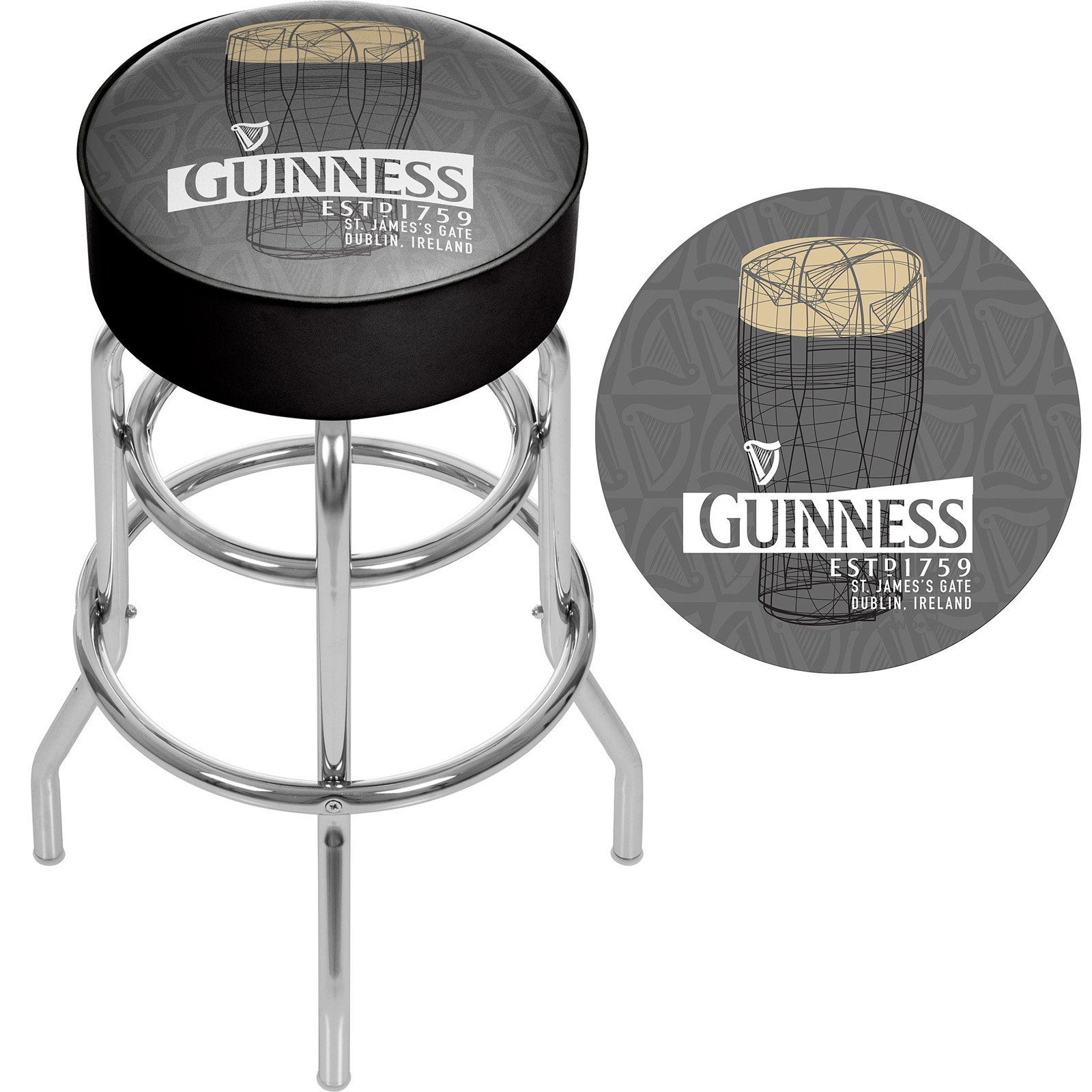 Peachy Guinness Padded Swivel Bar Stool Products In 2019 Swivel Caraccident5 Cool Chair Designs And Ideas Caraccident5Info