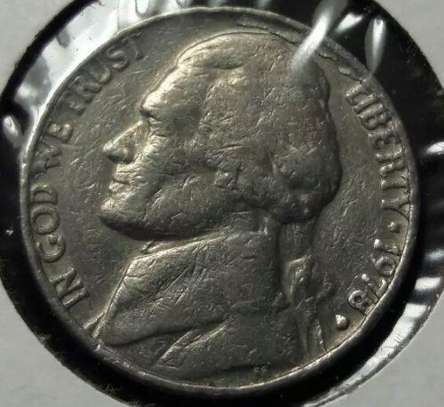 mint error 1978 d jefferson nickel lamination cud error coins