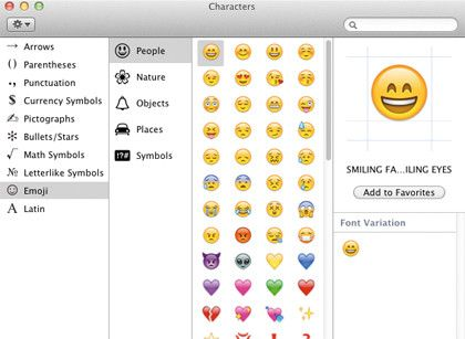 80 Handy Os X Lion Tips And Tricks Text Symbols Mac Os Emoji