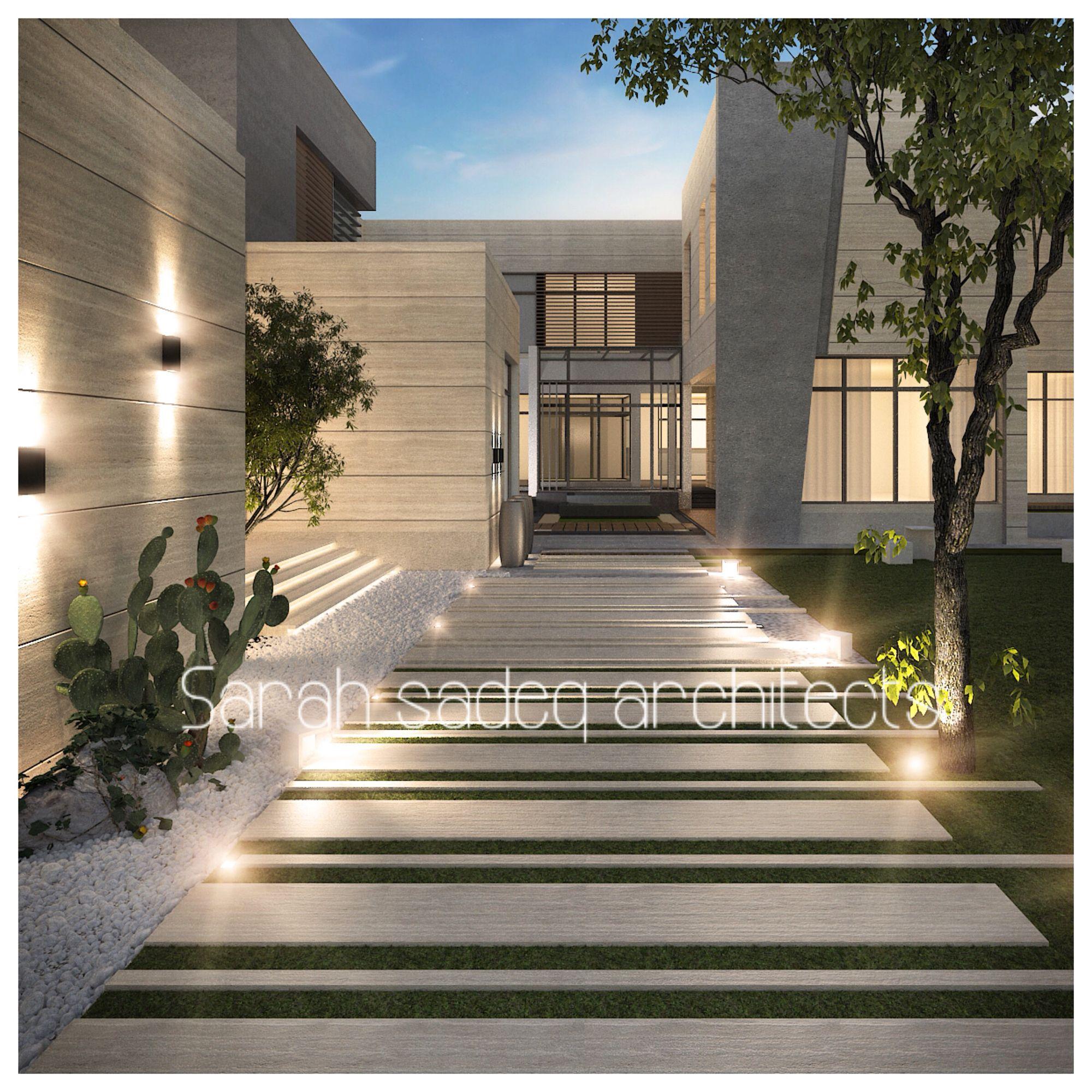 abudahbi landscaping private villa uae by sarah sadeq architects