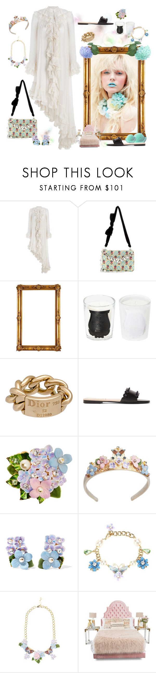 """""""Dreaming"""" by juliabachmann ❤ liked on Polyvore featuring Zimmermann, Miu Miu, Cire Trudon, Christian Dior, Fendi and Dolce&Gabbana"""
