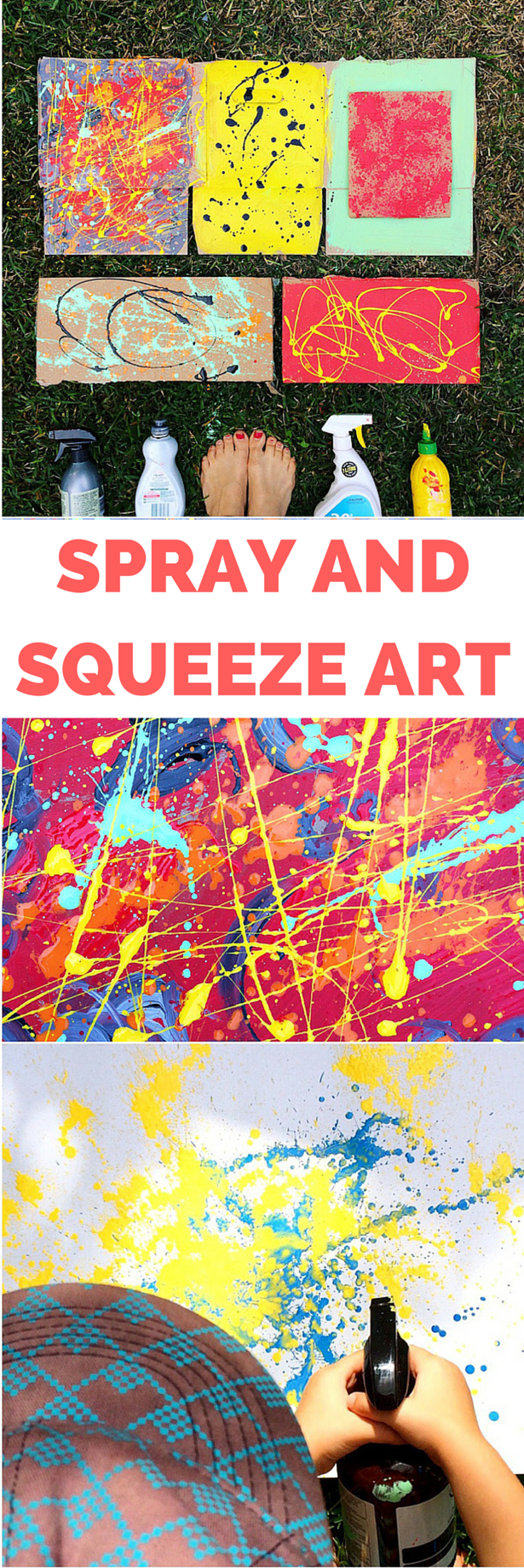 RECYCLED SPRAY AND SQUEEZE ART PAINTING #spraypainting