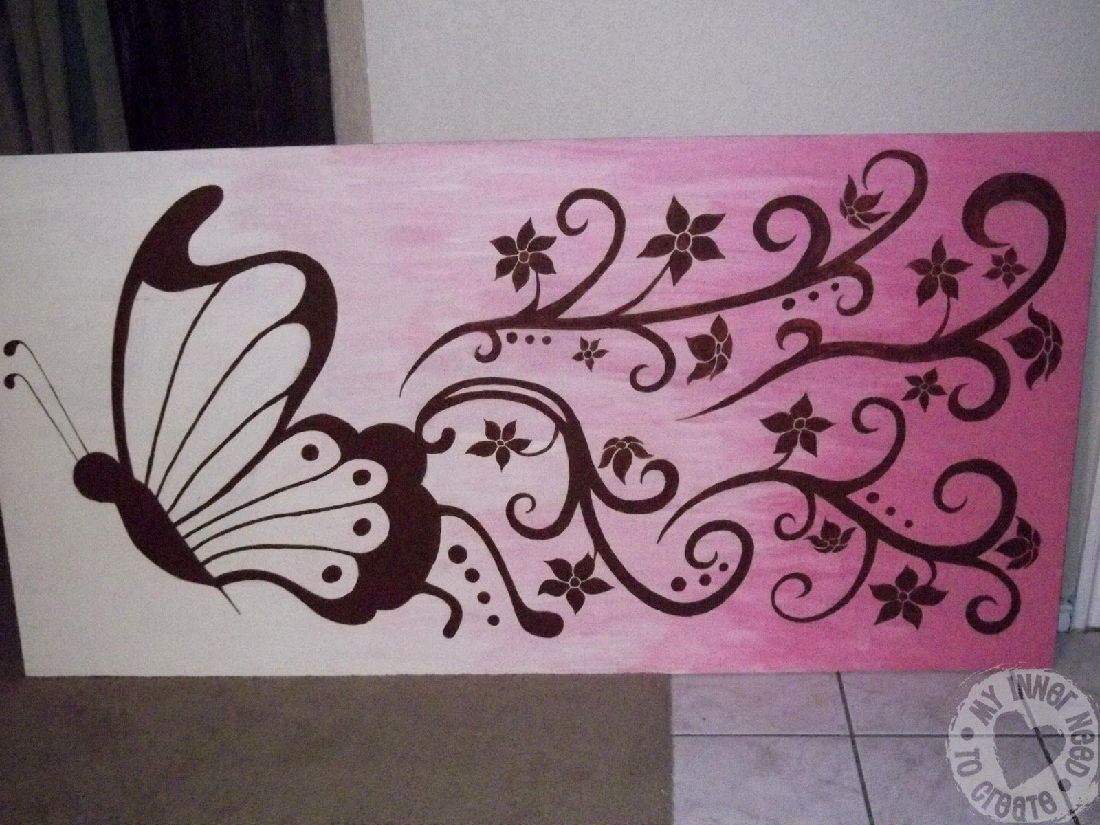 My Inner Need to Create...: Brown and Pink Butterfly and Flower ... for Butterfly Painting Designs  150ifm