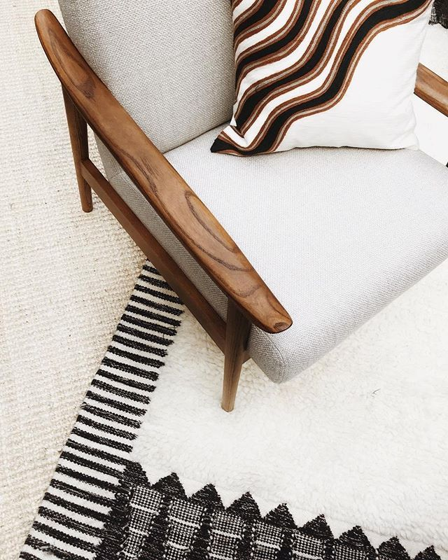 Fresh Textiles With Modern Classics 👌 Our Ikat Border Shag