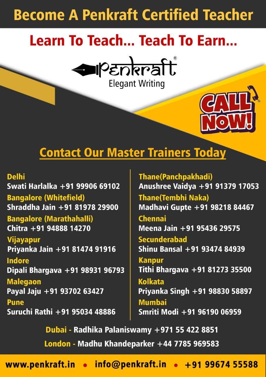 a Penkraft Certified Teacher & start your own