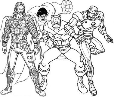dibujos de ironman para colorear con los vengadores | Super Heroes ...