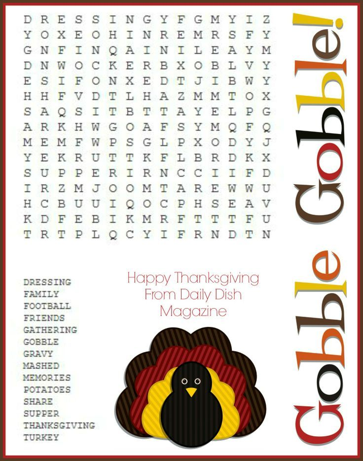 Printable Worksheets thanksgiving word search worksheets : Free Thanksgiving Puzzles ~ Word Search and Maze Printable ...