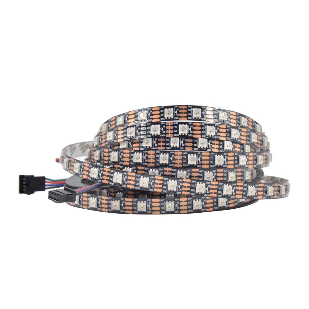 Addressable 2m 144leds M Dc5v Ws2813 Rgb Full Color Led Pixel Strip Waterproof By Silicon Coating Ip65 144pixels M White Pcb Led Color Color Sleep Eye Mask