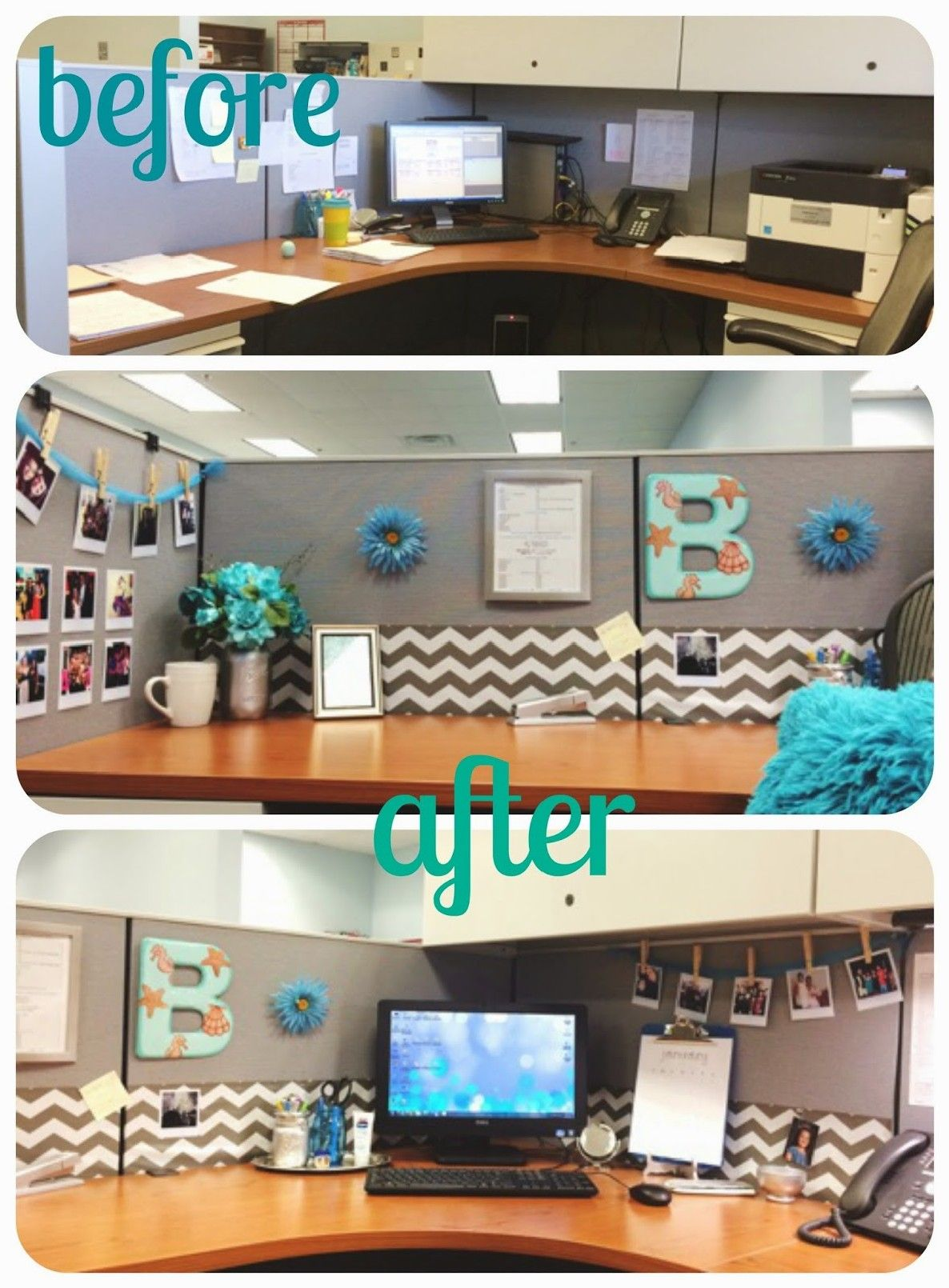 Ditch Your Boring Workspace With These 35 Cubicle Decor Ideas Awesome Indoor Outdoor Cubicle Decor Office Work Desk Decor Work Space Decor