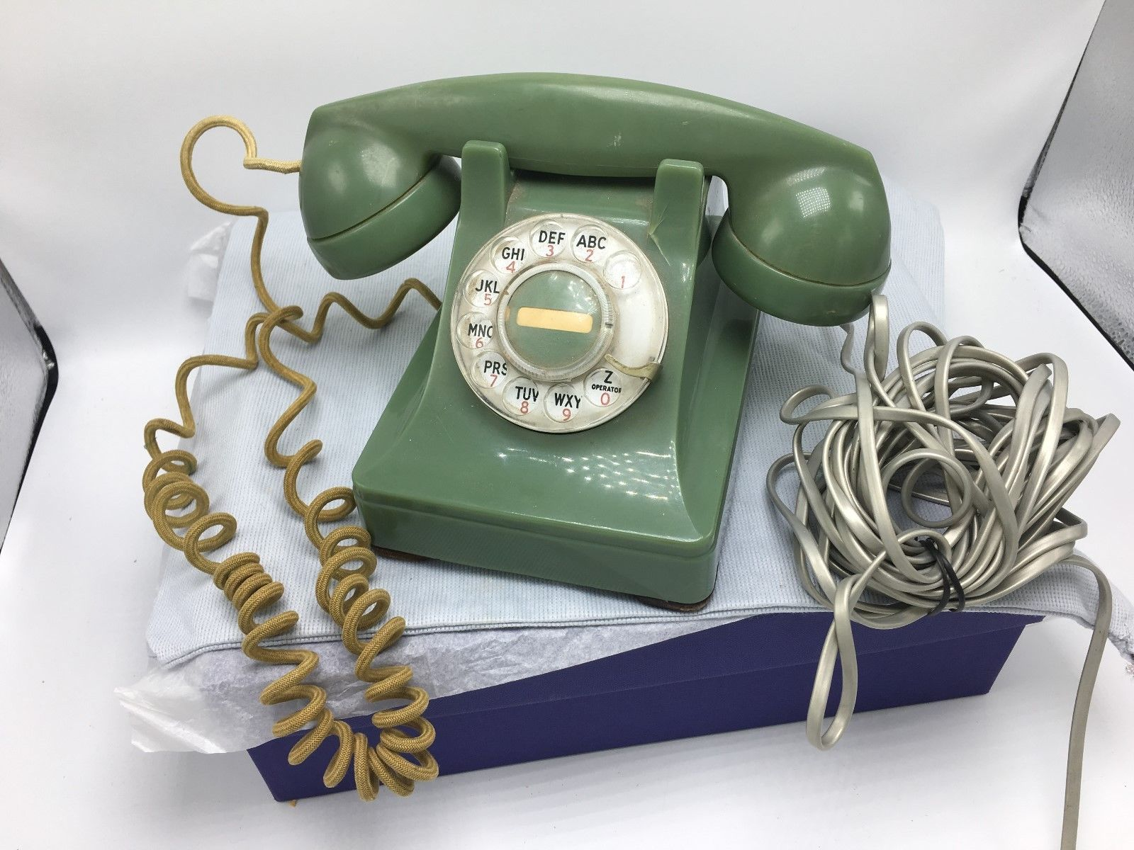 Vintage Bell System Western Electric Green Rotary Dial