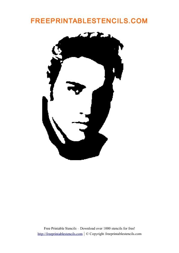 Elvis Presley Stencil Template and other famous people