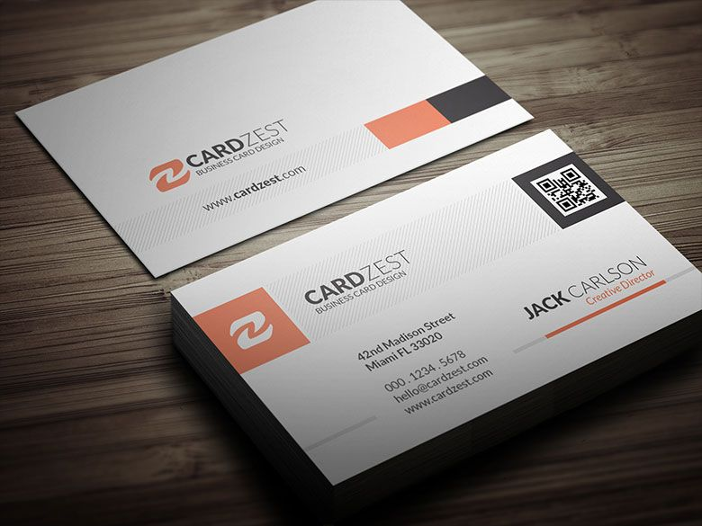 Image Result For Business Card With Qr Code Design Qr Code