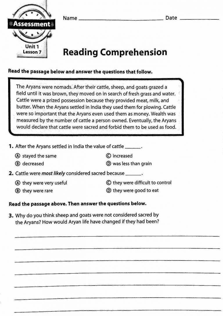 2Nd Grade Reading Comprehension Worksheets Pdf - Math Worksheet for Kids   Reading  worksheets [ 1088 x 768 Pixel ]