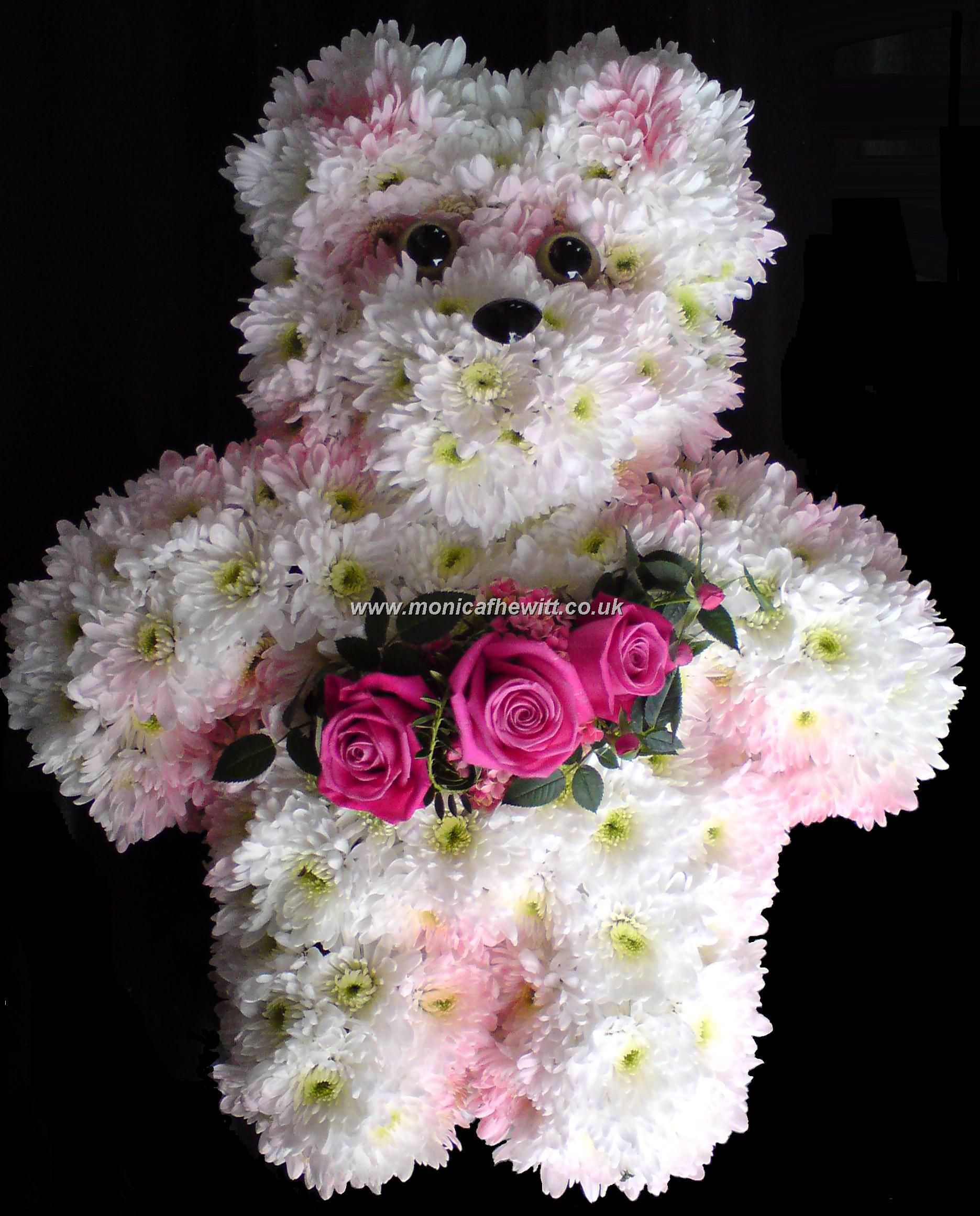 Teddy Bear Funeral Flowers Monica F Hewitt Florist Sheffield Graveyards