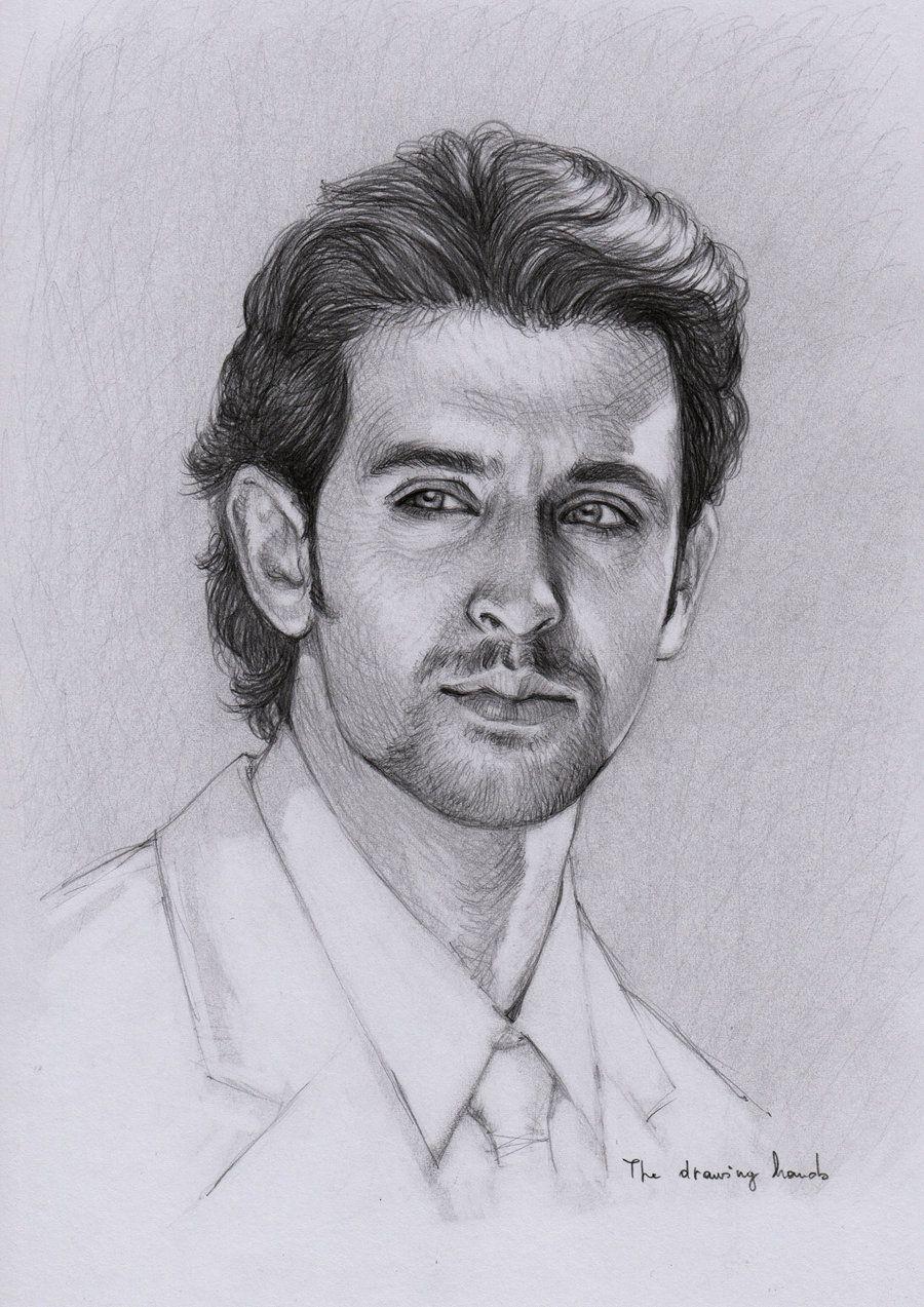 Hrithik roshan celebrity drawings celebrity caricatures portrait sketches pencil portrait drawing portraits