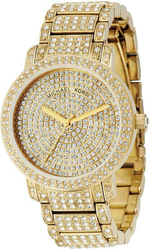 afcb044875d9 Michael Kors Pavé Bracelet Watch available. Beautiful gold diamond watch