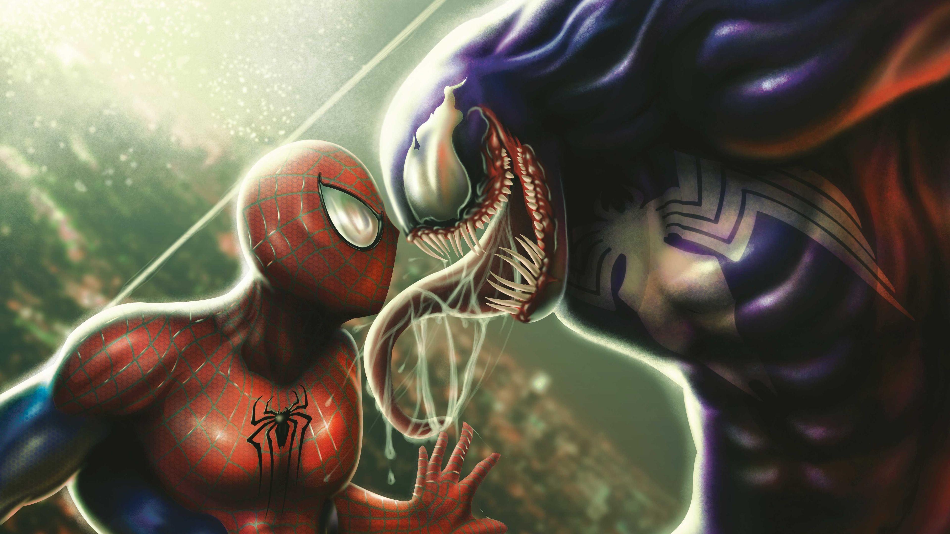 Spiderman And Venom 4k Venom wallpapers, superheroes