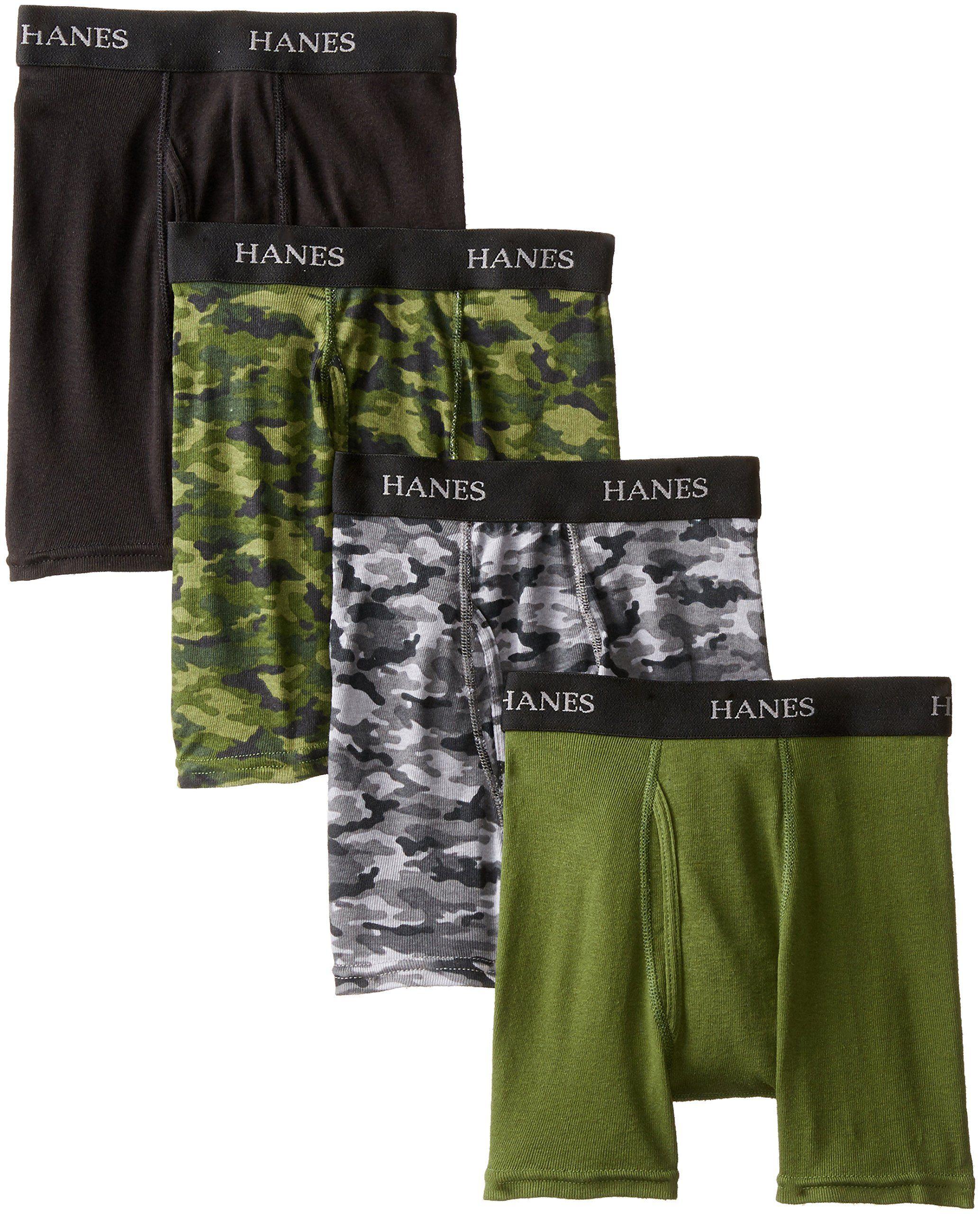 Hanes boys 4 pack ultimate comfort flex printed boxer