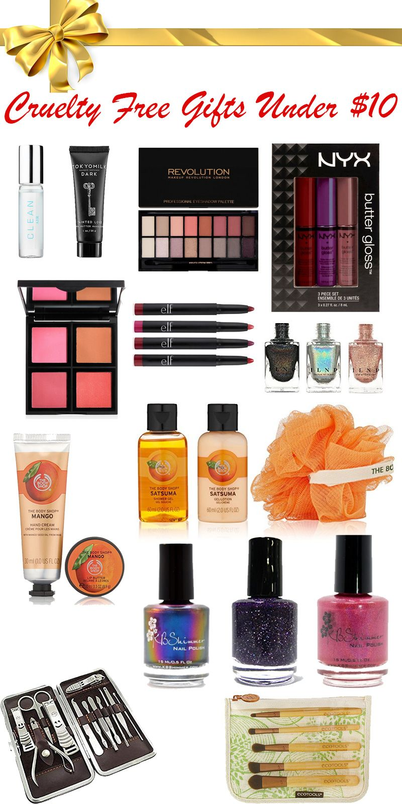 Cruelty Free Gifts Under $10