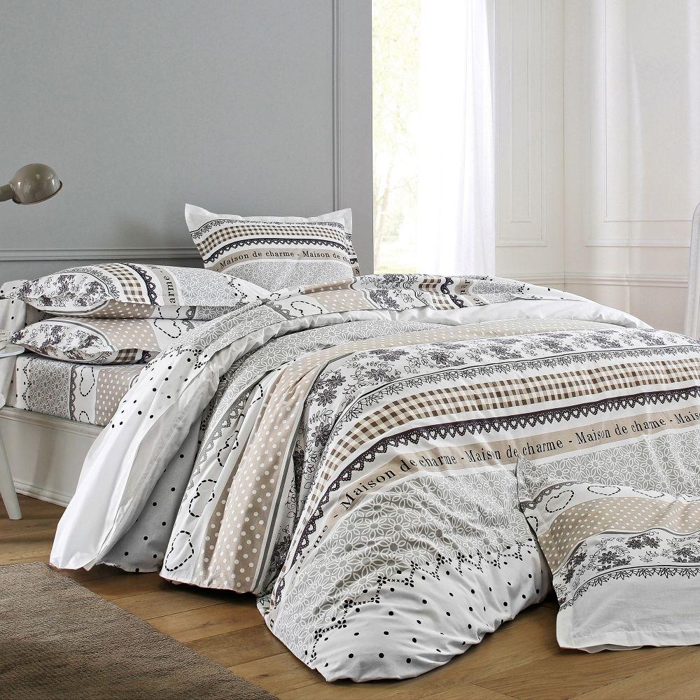 Linge de lit madeleine collection blancheporte maison linge de maison linge de lit lit et for Maison linge de lit