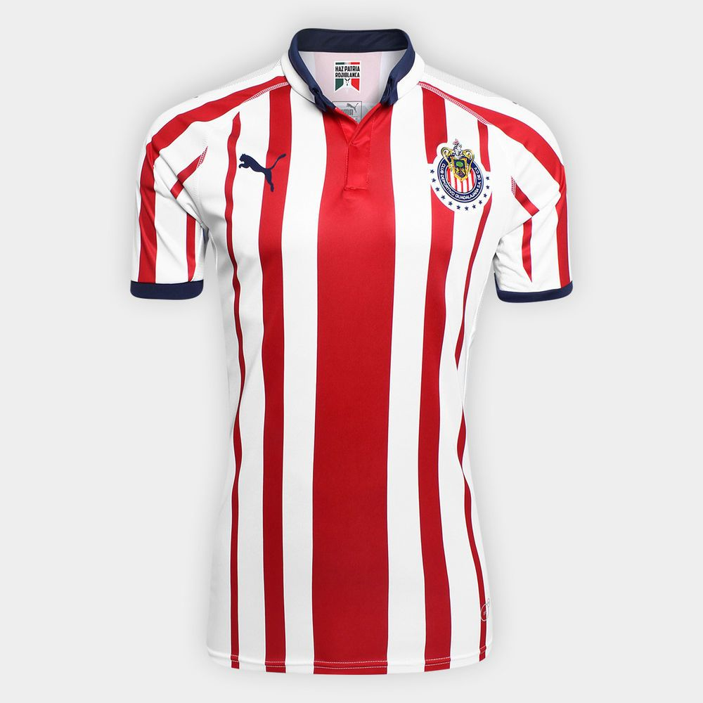 reputable site 9eca0 5ab0e PUMA Chivas De Guadalajara Official 2018 2019 Home Soccer ...
