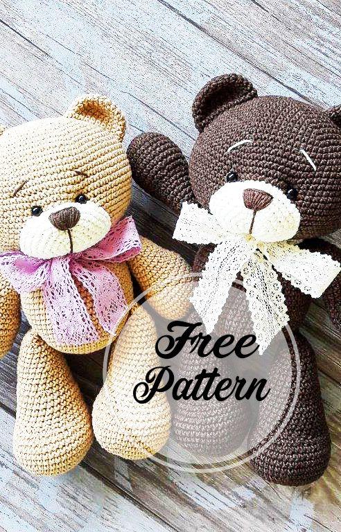 New and Free Crochet Bear Amigurumi Pattern, Very Soft #crochetbear