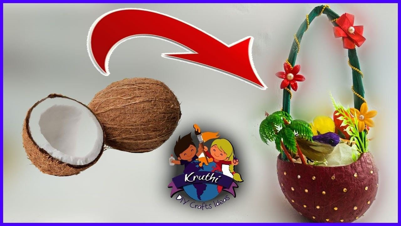 Diy Coconutz Coconut Shell Crafts Shell Crafts Coconut Shell