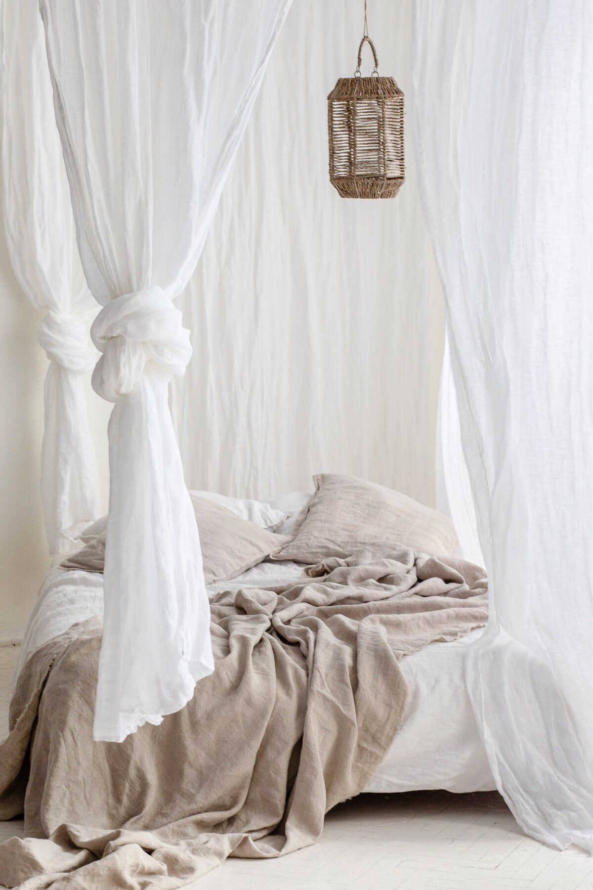 White Sheer Linen Curtains White Canopy Made Of Linen Muslin Etsy White Linen Curtains Sheer Linen Curtains White Sheer Curtains