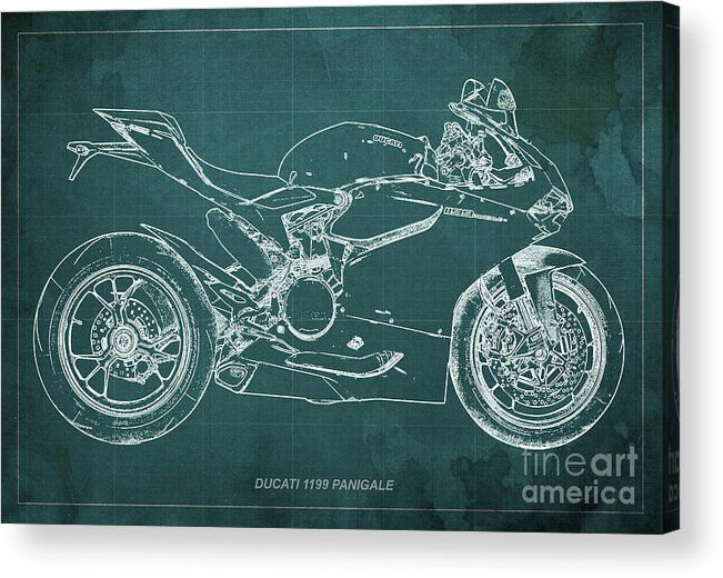 Ducati panigale 1199 acrylic print maps art art and art projects blueprint artwork birthday gift bike biker gift for biker malvernweather Images