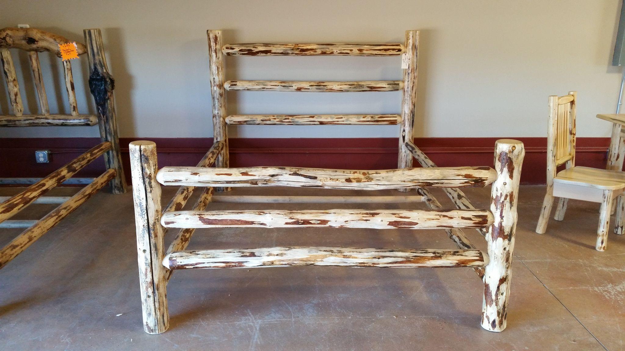 Attirant Log Bed Log Furniture Rustic Furniture Montana Pine Kalispell Glacier Park